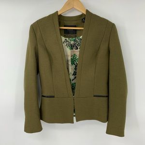 Maison Scotch Blazer Jacket Green Wool Blend 2